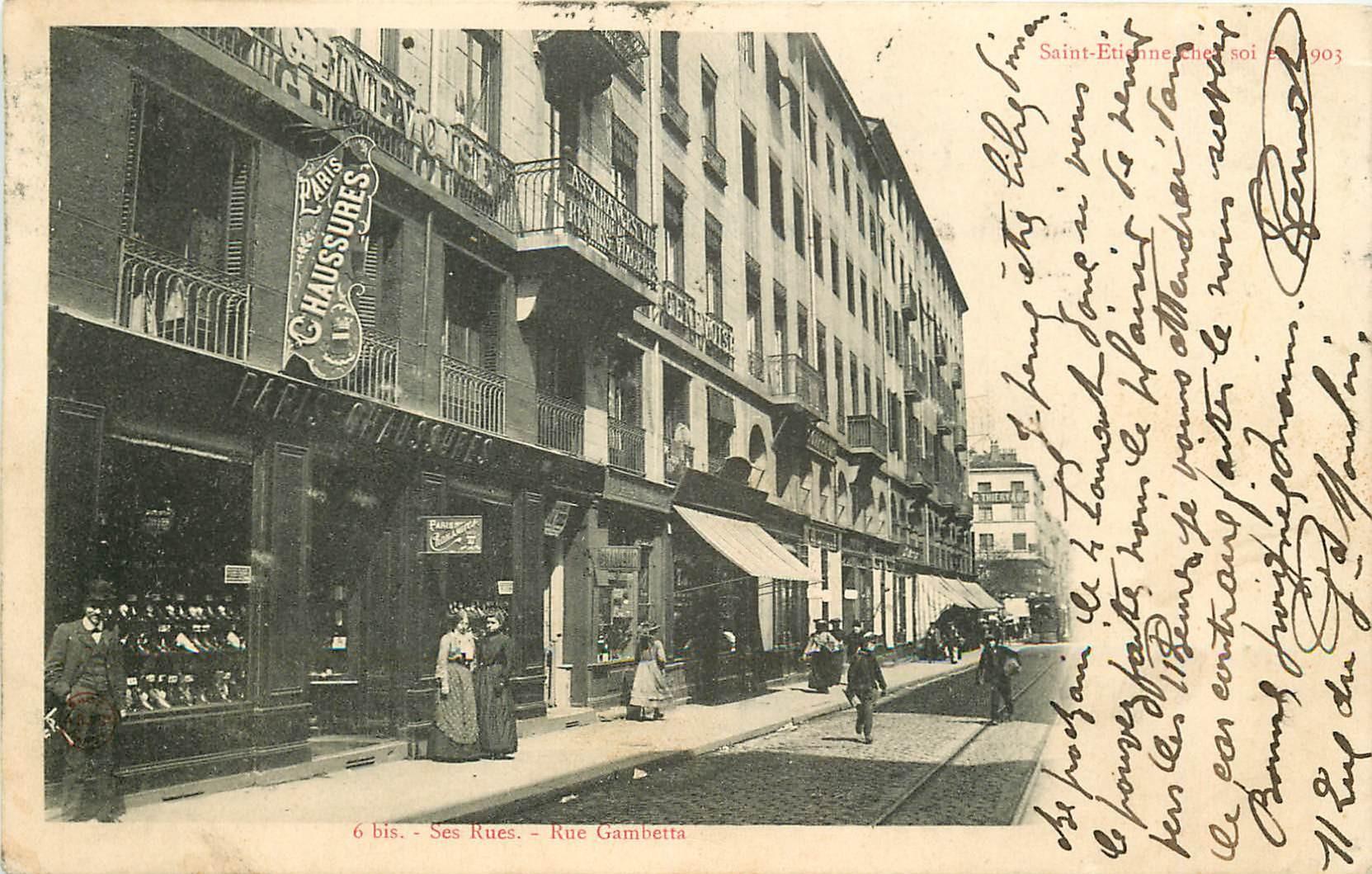 WW 42 SAINT-ETIENNE chez soi 1903. Paris Chaussures rue Gambetta