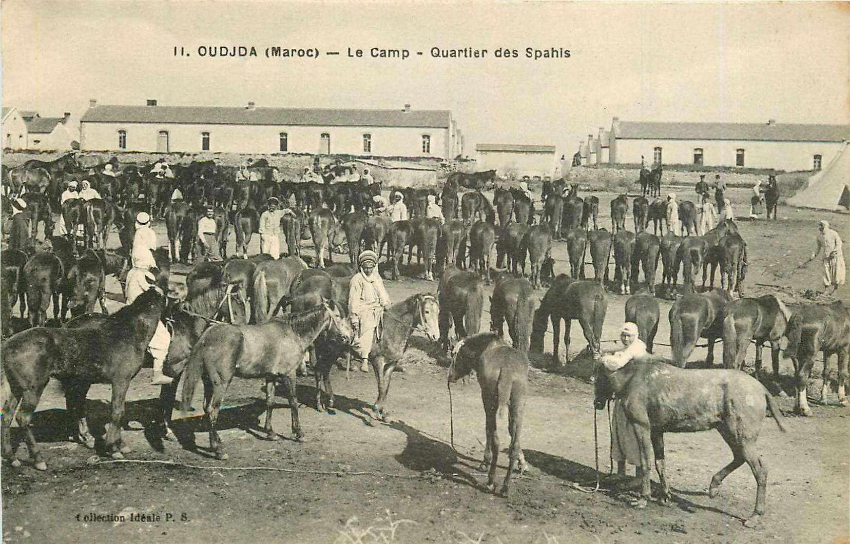 WW OUDJDA. Quartier des Spahis et Chevaux au Camp