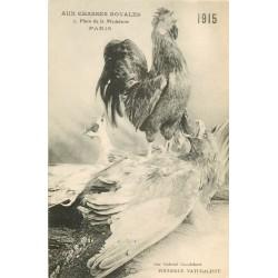 WW PARIS. Aux Chasses Royales allégorie du Coq sur l'Aigle Prussien 1915