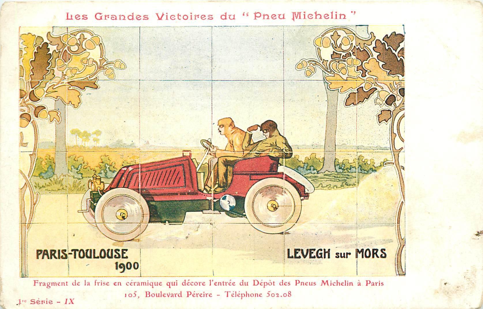 WW SPORT AUTOMOBILE. Pneu Michelin Paris Toulouse 1900 Levegh sur Mors