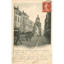 WW 63 RIOM. Militaires devant la Pharmacie rue du Commerce 1907