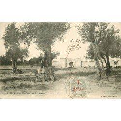 WW OUDJDA. Environs des Remparts. Rare timbre 1 centime 1913