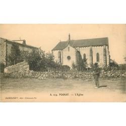 WW 63 POGNAT. Paysan devant l'Eglise