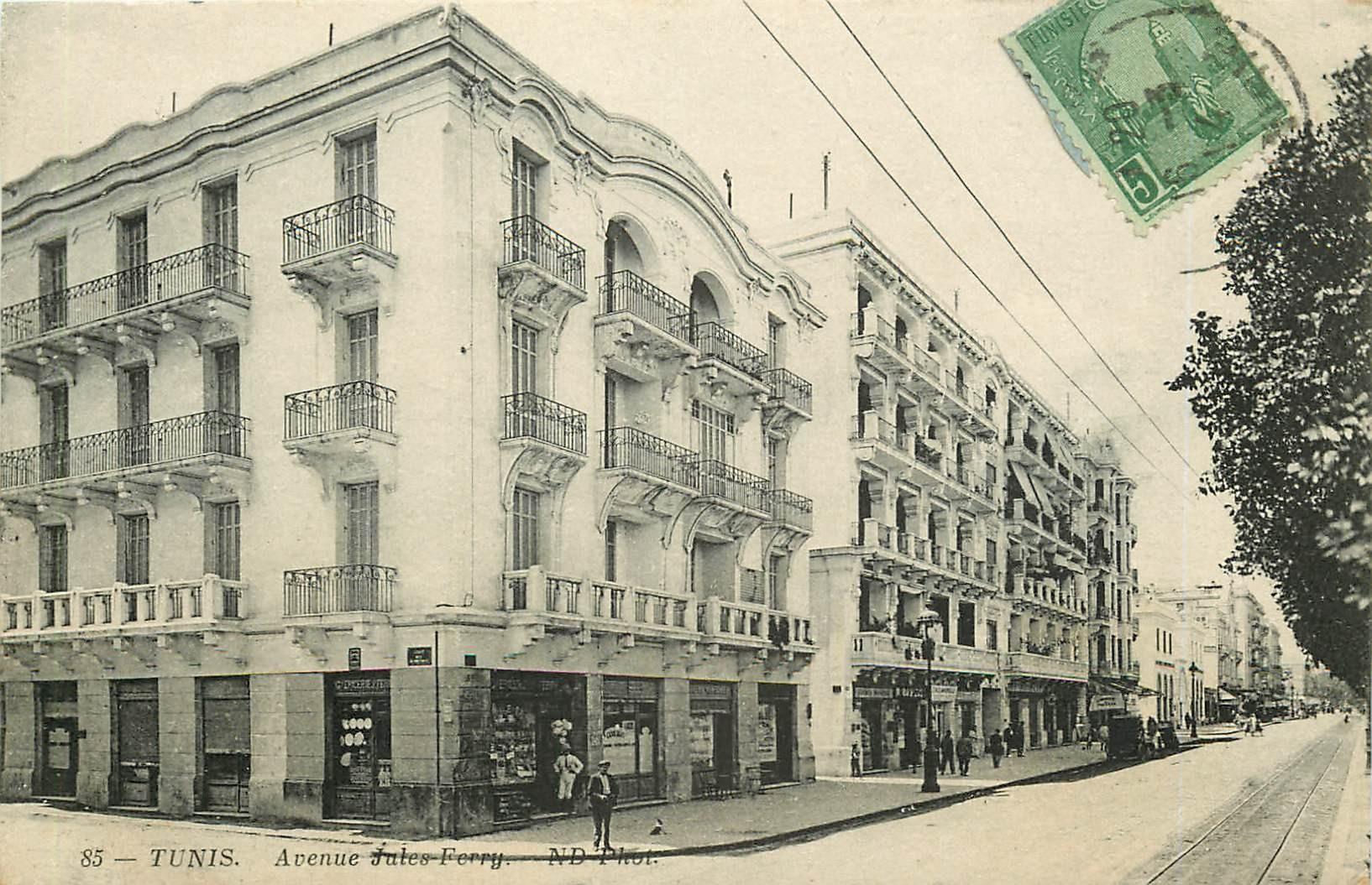 WW TUNIS. Avenue Jules Ferry 1914 en Tunisie