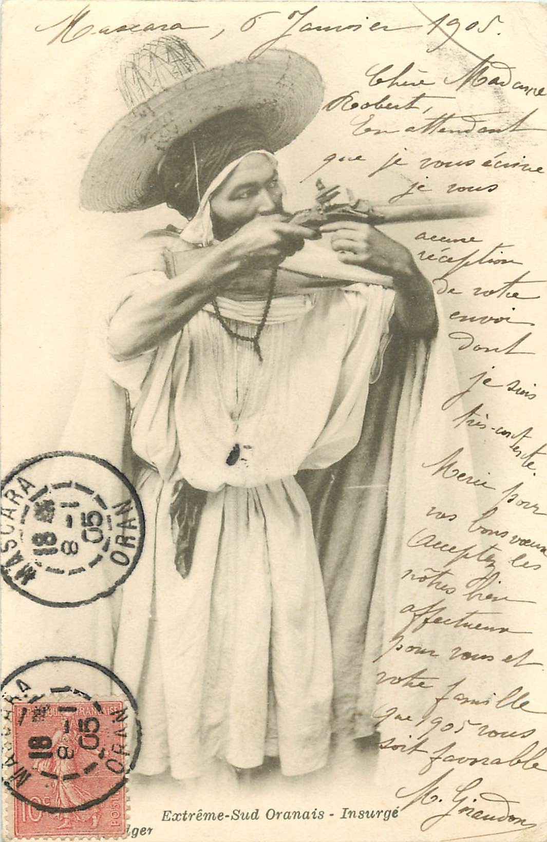 WW ALGERIE. Un Insurgé armé de l'Extrême Sud Oranais 1905