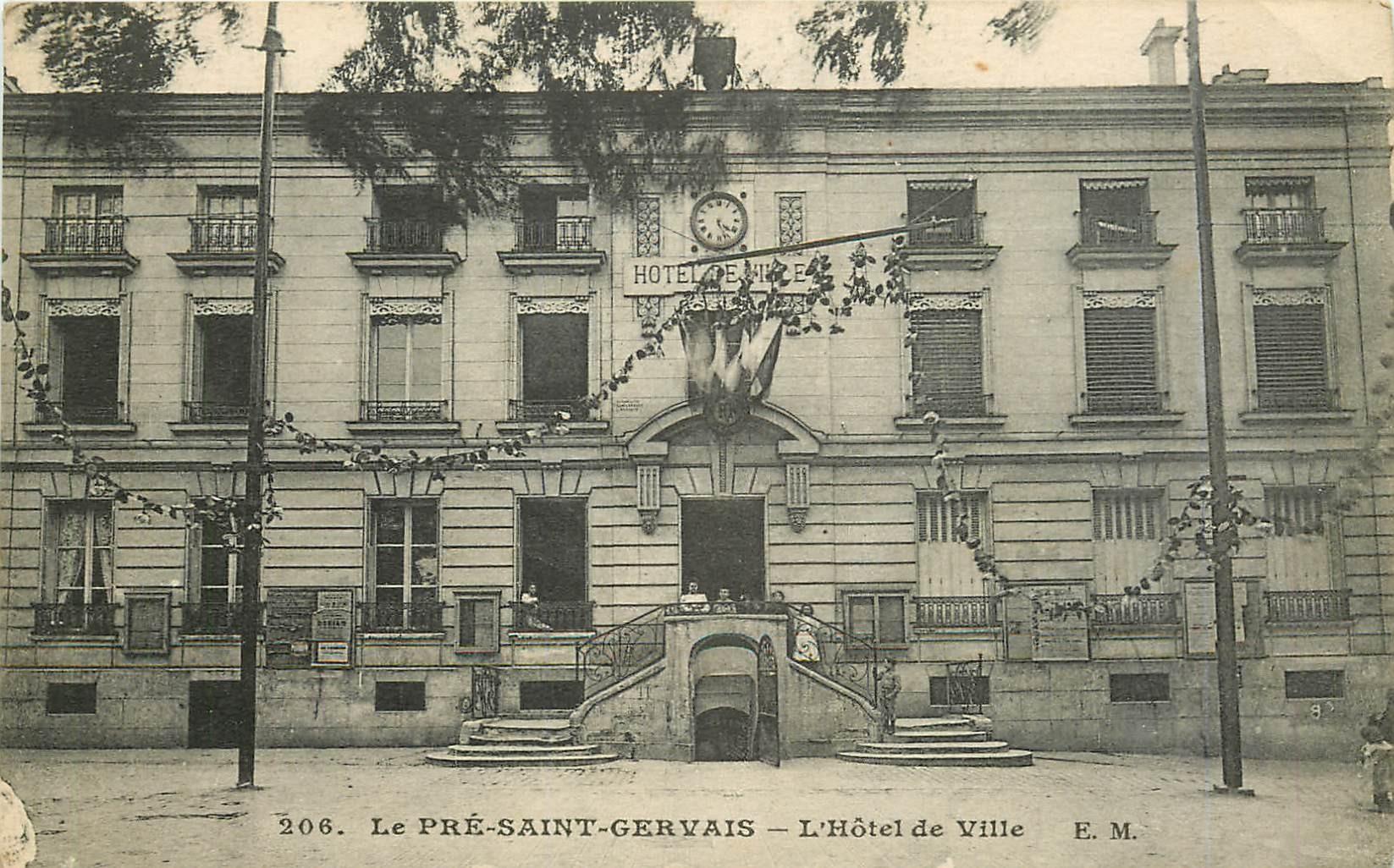 WW 93 LE PRE-SAINT-GERVAIS. L'Hôtel de Ville 1919