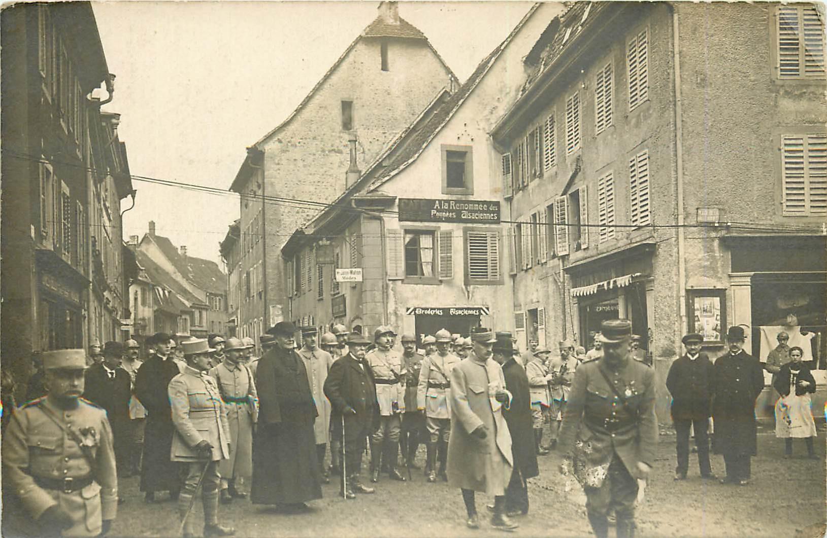 WW 68 MASEVAUX. Visite du Maréchal Clemenceau Place de la Halle aux Blés