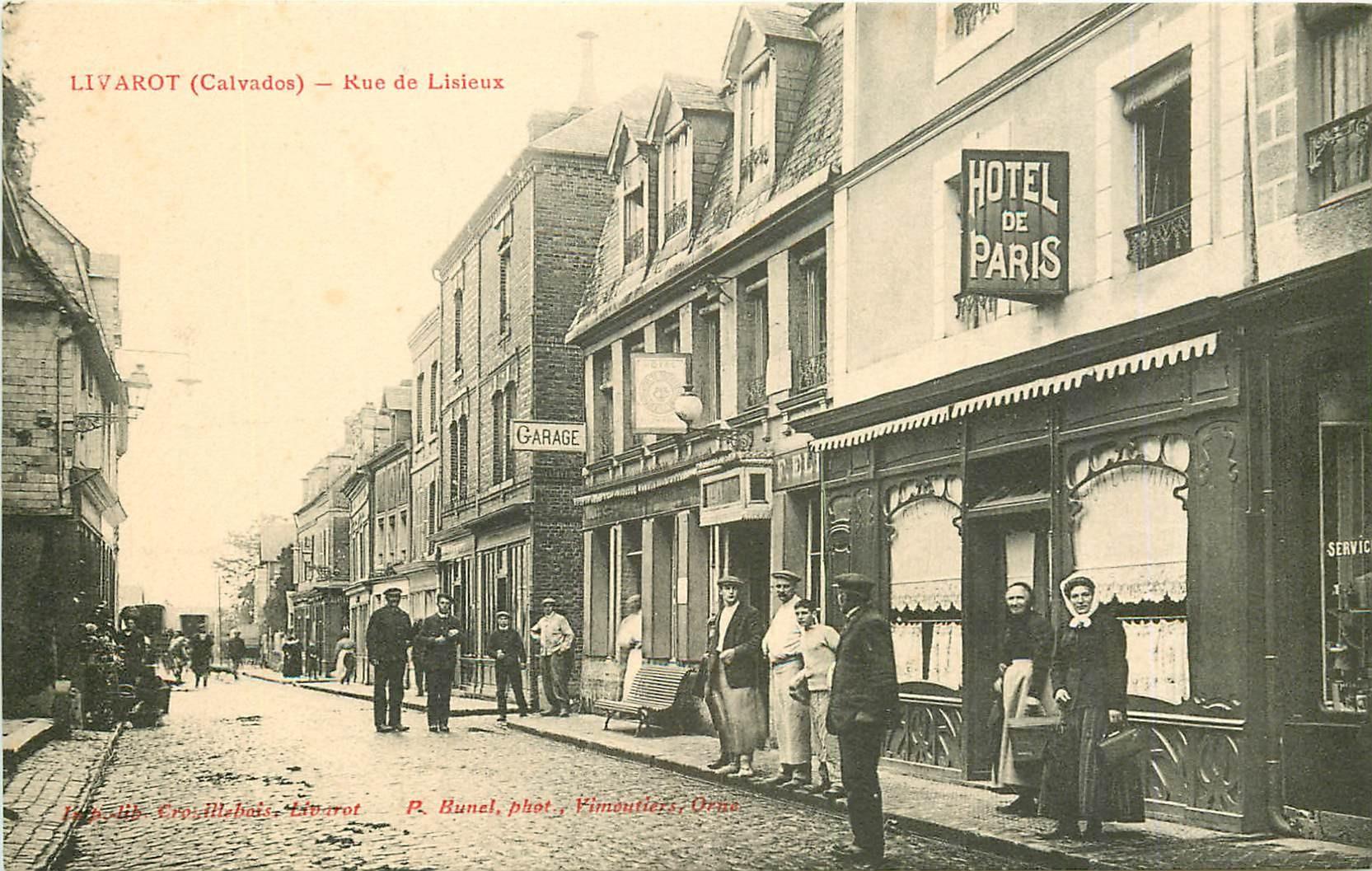 WW 14 LIVAROT. Hôtel de Paris rue de Lisieux