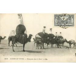 WW MAROC. Palanquins dans le Désert vers 1913