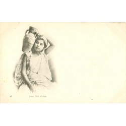 WW ALGERIE. Jeune Fille Kabyle vers 1900