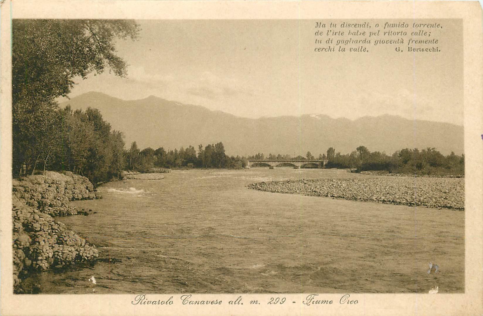 WW TORINO. Fiume Orco Rivarolo Canavese 1918