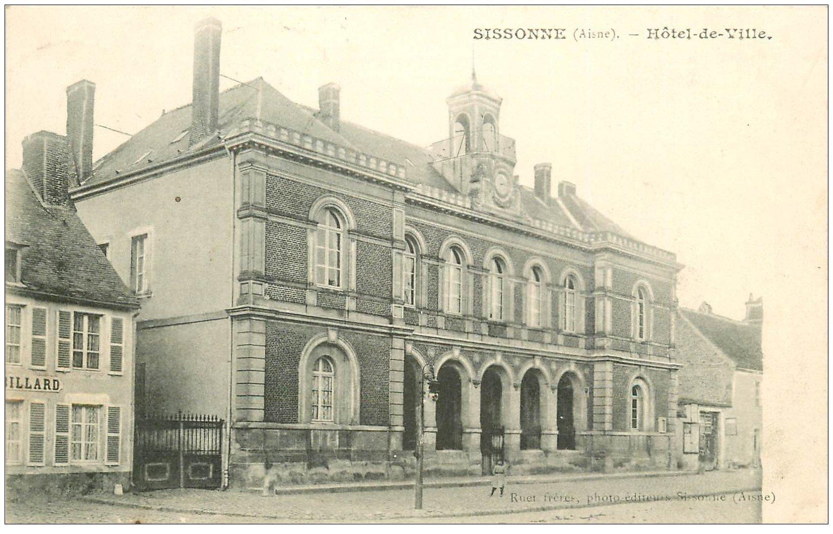 02 sissonne h tel de ville 1907 et billard for Sissonne 02