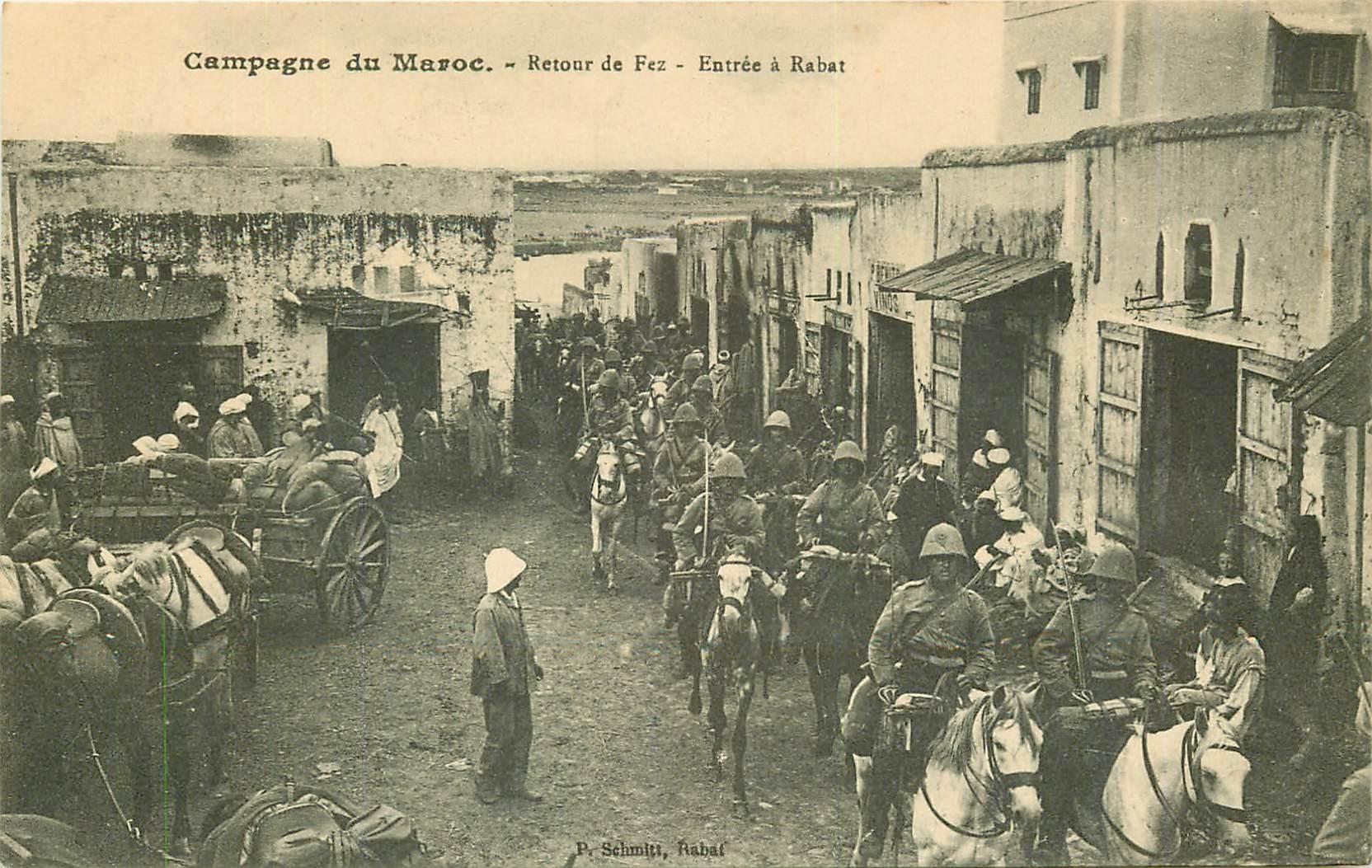 WW CAMPAGNE DU MAROC 1912. Entrée à Rabat au Retour de Fez