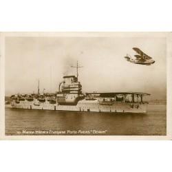 """WW MARINE MILITAIRE FRANCAISE. Le Porte Avions 3 Béarn """" et Hydroavion"""