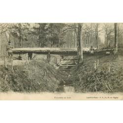 WW GUERRE 1914-18. Tranchées dans la Forêt 1915. Edition à Lunéville 54