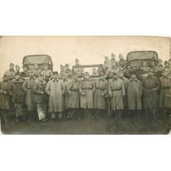 WW 63 CLERMONT-FERRAND. Militaires avec Camions et Jeep. Photographe Breuly 25 Av des Etats-Unis