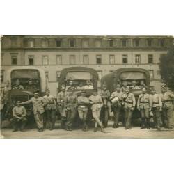 WW 63 CLERMONT-FERRAND. Militaires avec Camions. Photographe Breuly 25 Av des Etats-Unis