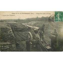 WW 38 CHAMBARAN. Charge d'une pièce canon au Champ de Tir 1908