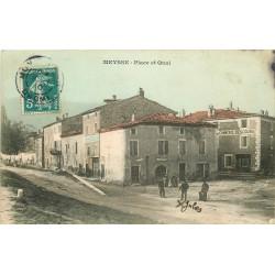 WW 07 MEYSSE. Place et Quai avec Auberge du Commerce Descours 1910