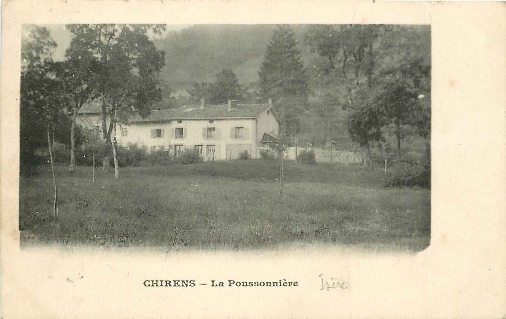 WW 38 CHIRENS. La Poussonnière 1912