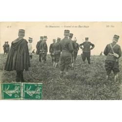 WW MILITAIRES. Général et son Etat-Major en Manoeuvres 1917