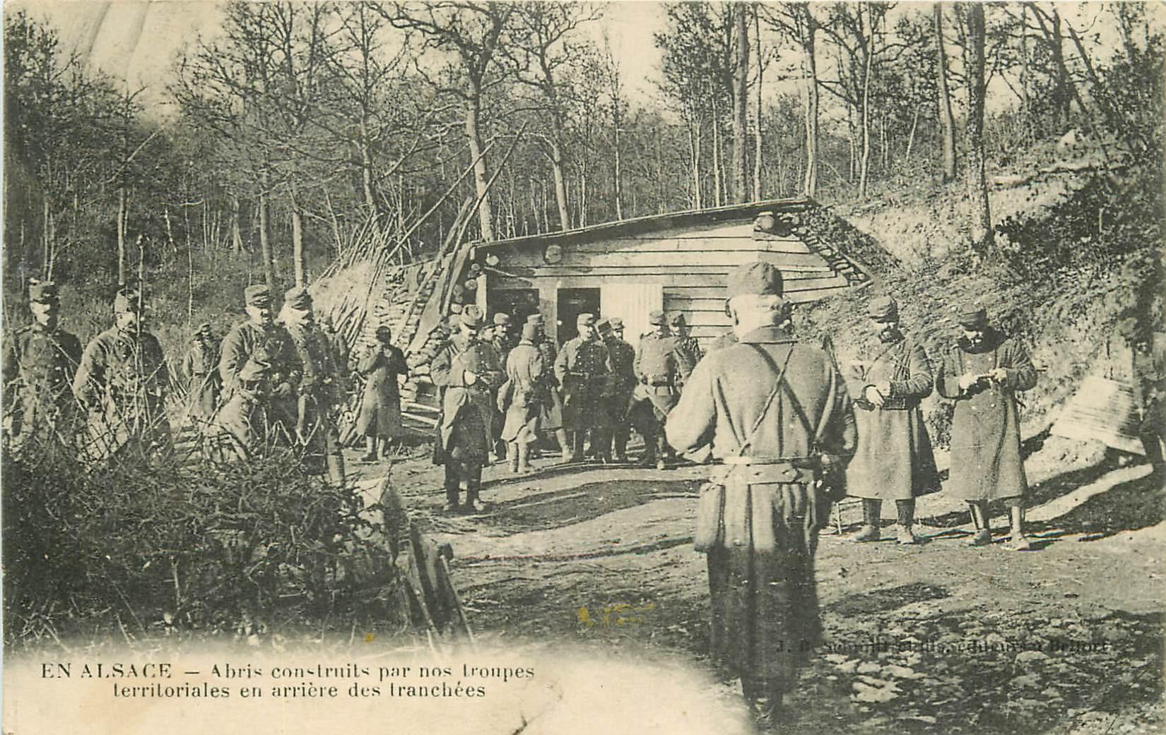 WW GUERRE 1914-18. En Alsace Abris construits en arrière des Tranchées 1915
