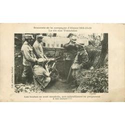 WW GUERRE 1914-18. La vie aux tranchées avec les mitrailleuses 1916