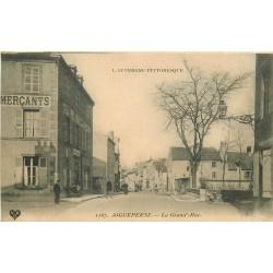 WW 63 AIGUEPERSE. Hôtel des Commerçant sur Grand'Rue 1908