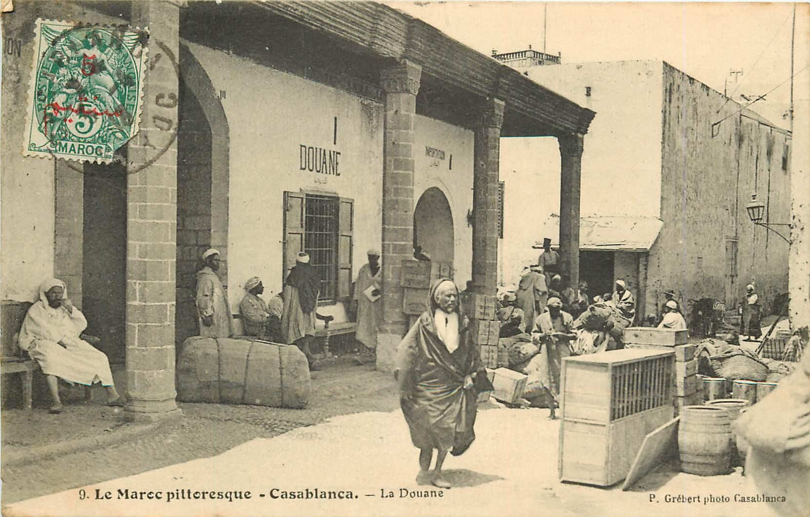 WW CASABLANCA. La Douane au Maroc 1913