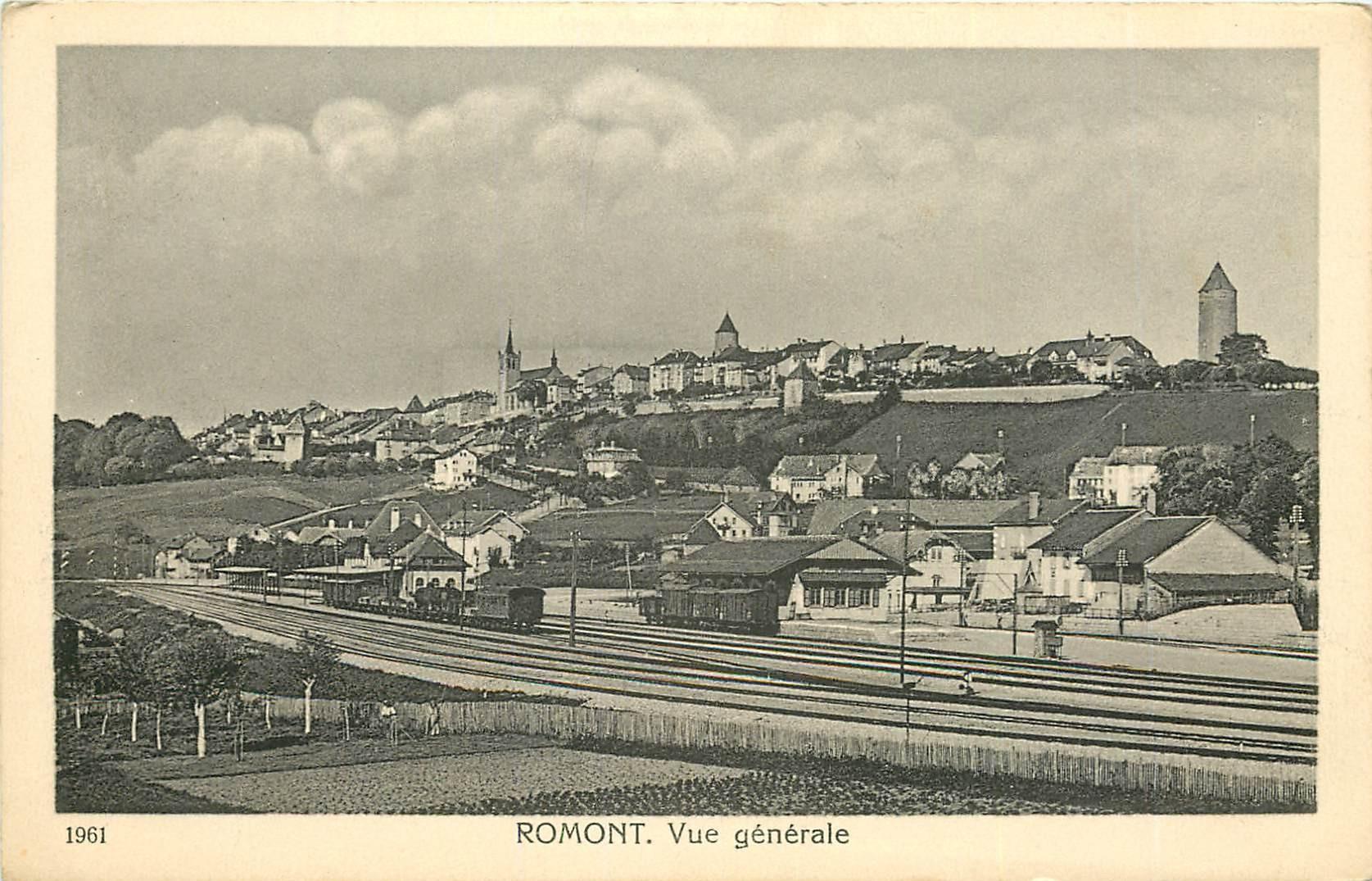 WW FROMONT. Vue générale sur la Gare en Suisse