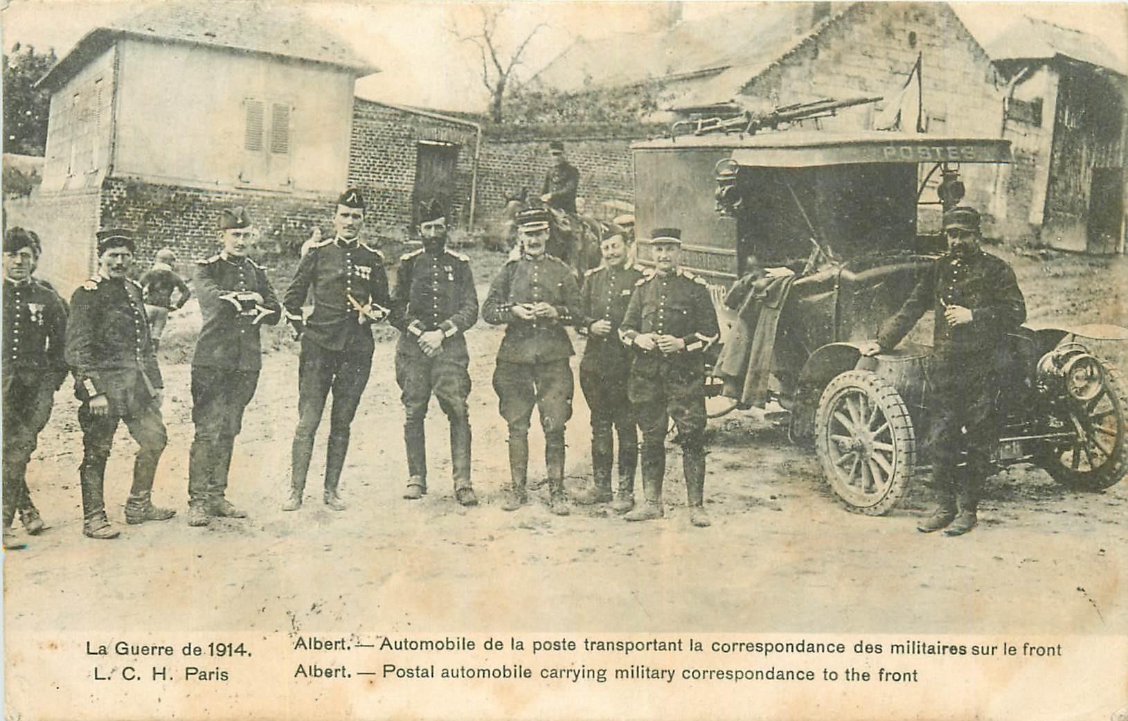 WW 80 ALBERT. Automobile transport poste et correspondance militaires 1915