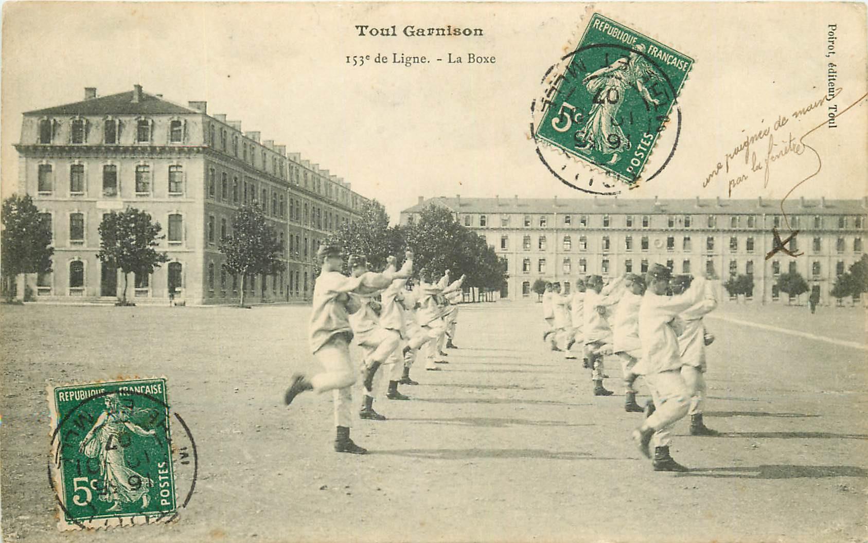 WW 54 TOUL. La Boxe à la Garnison des Militaires 1907