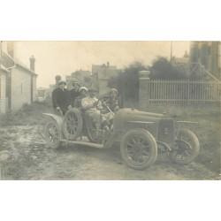 80 AULT. Ballade dans une superbe voiture ancienne et décapotable. Photo carte postale