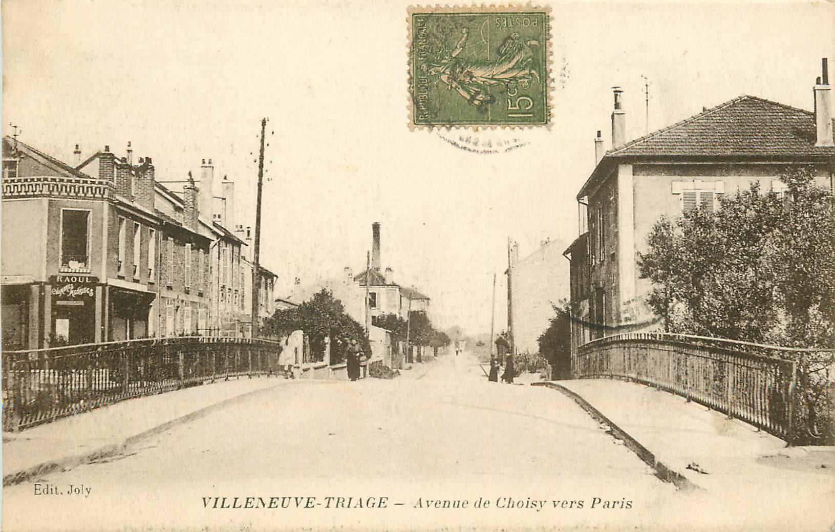 WW 94 VILLENEUVE-TRIAGE. Hôtel meublé Avenue de Choisy 1917