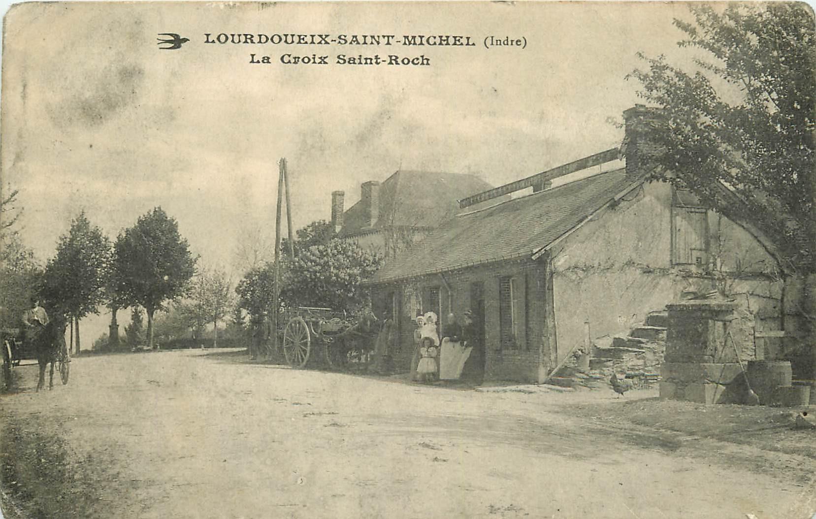 WW 36 LOURDOUEIX-SAINT-MICHEL. Ancienne station de Diligences Croix Saint-Roch
