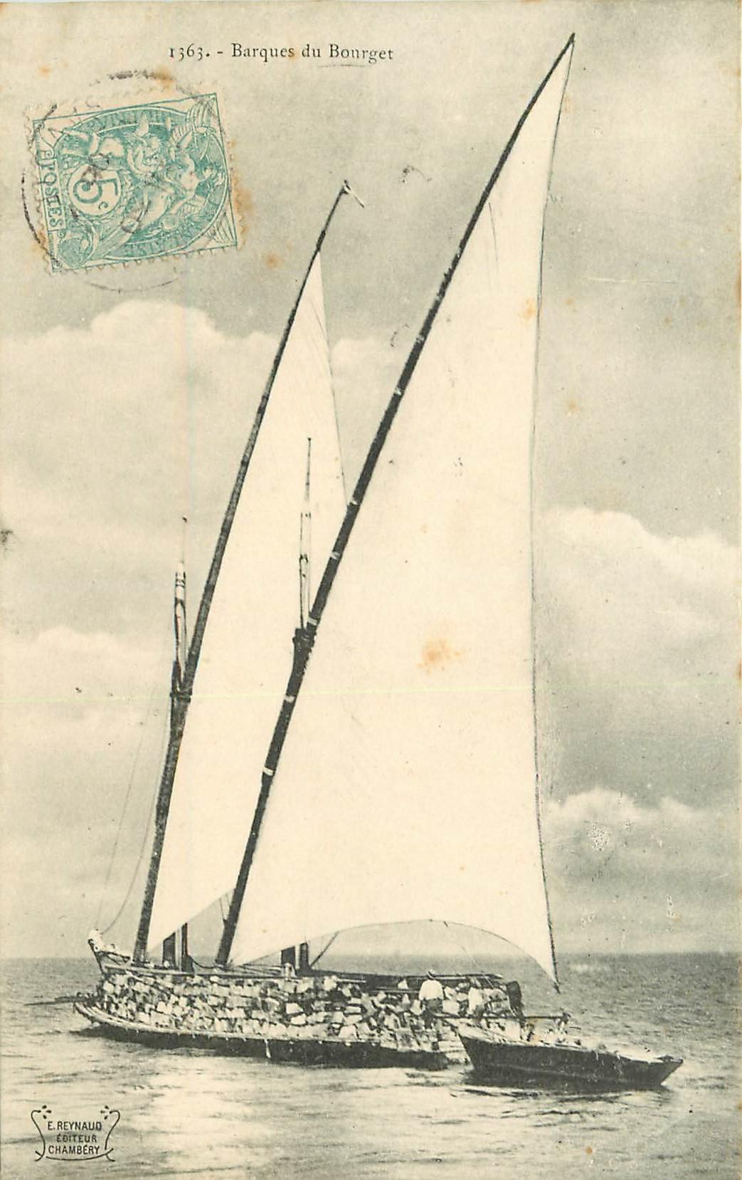 WW 73 LE BOUGET. Barques de Pêcheurs bien animées 1906