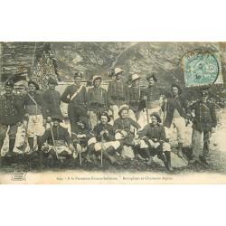 WW MILITAIRES ET DOUANIERS. Frontière Italienne Bersagliers et Chasseurs Alpins 1906