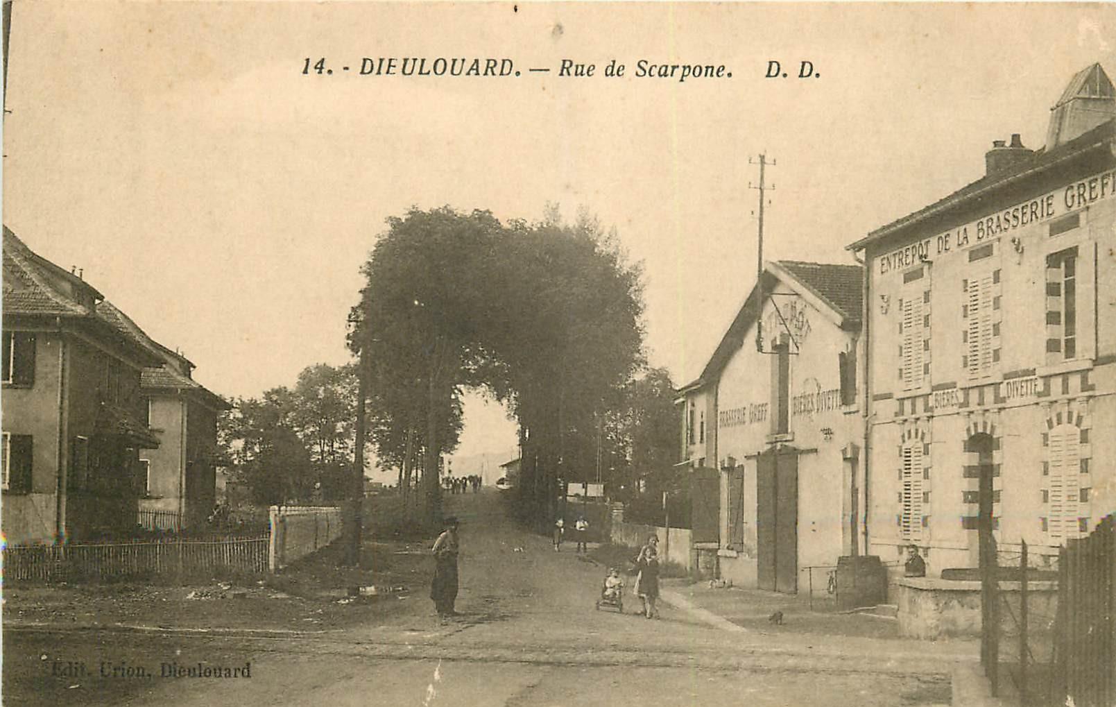 WW 54 DIEULOUARD. Entrepôt Brasserie Greff rue Scarpone