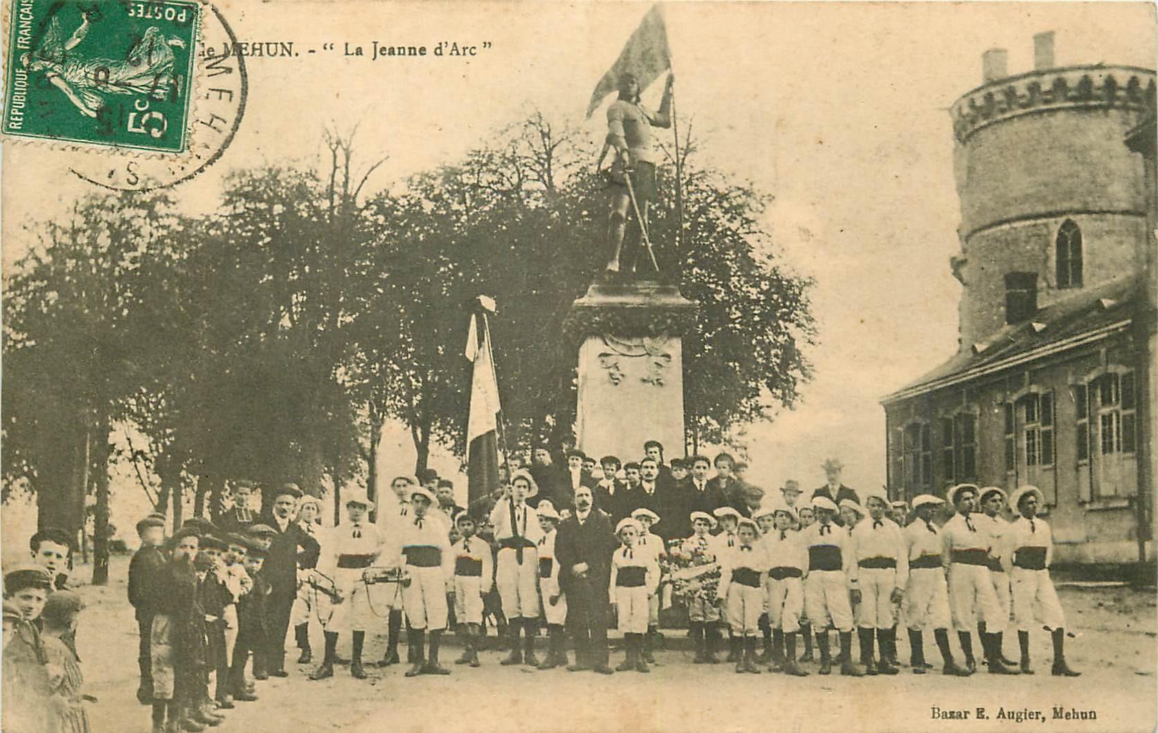 WW 18 MEHUN. Le Patronage la Jeanne d'Arc Gymnastes et Fanfare 1912