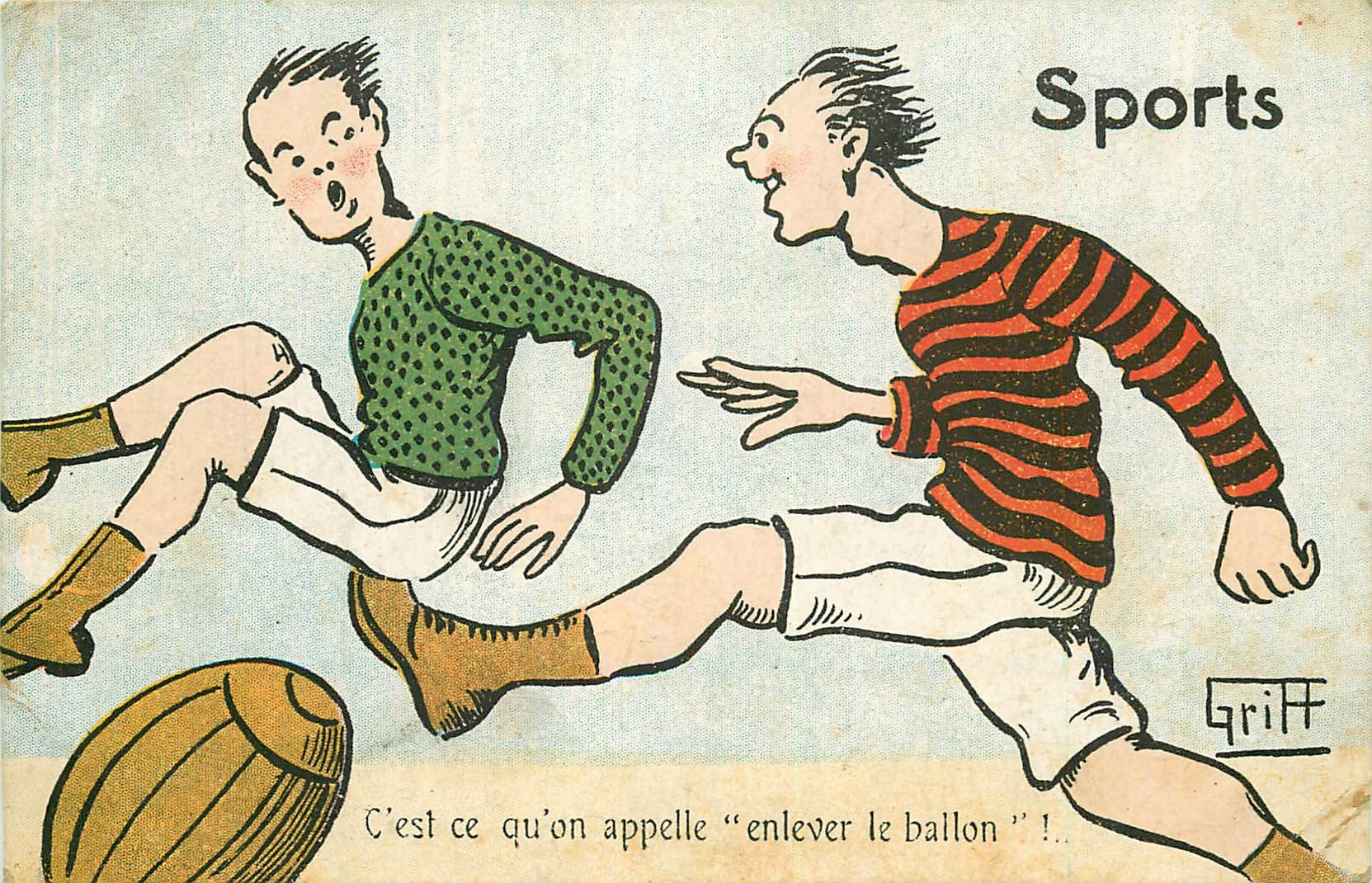 WW Illustrateur Griff avec les Sports. Enlever le ballon au Football !