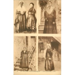 WW 73 AIX-LES-BAINS. Les 4 Costumes traditionnels de Savoie 1925