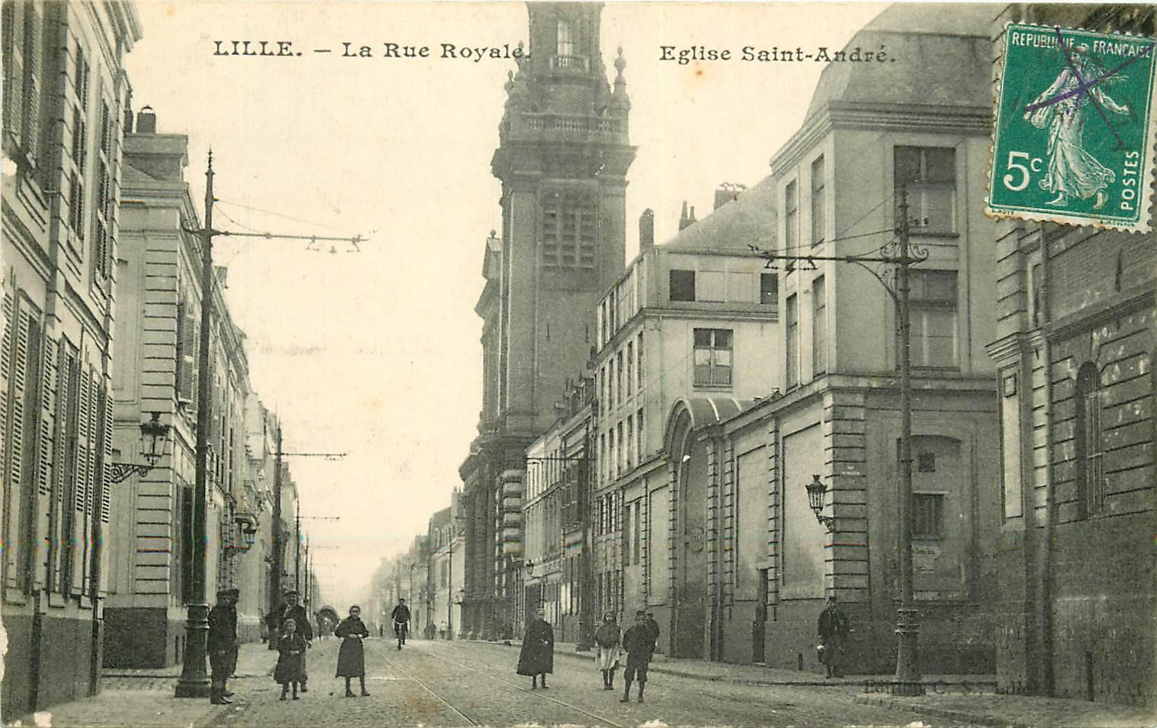 WW 59 LILLE. Eglise Saint-André rue Royale 1911