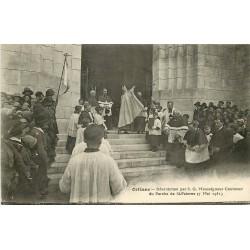 WW 45 ORLEANS. Fêtes Jeanne Arc 1931. Bénédiction Moseigneur Corcoux au Porche