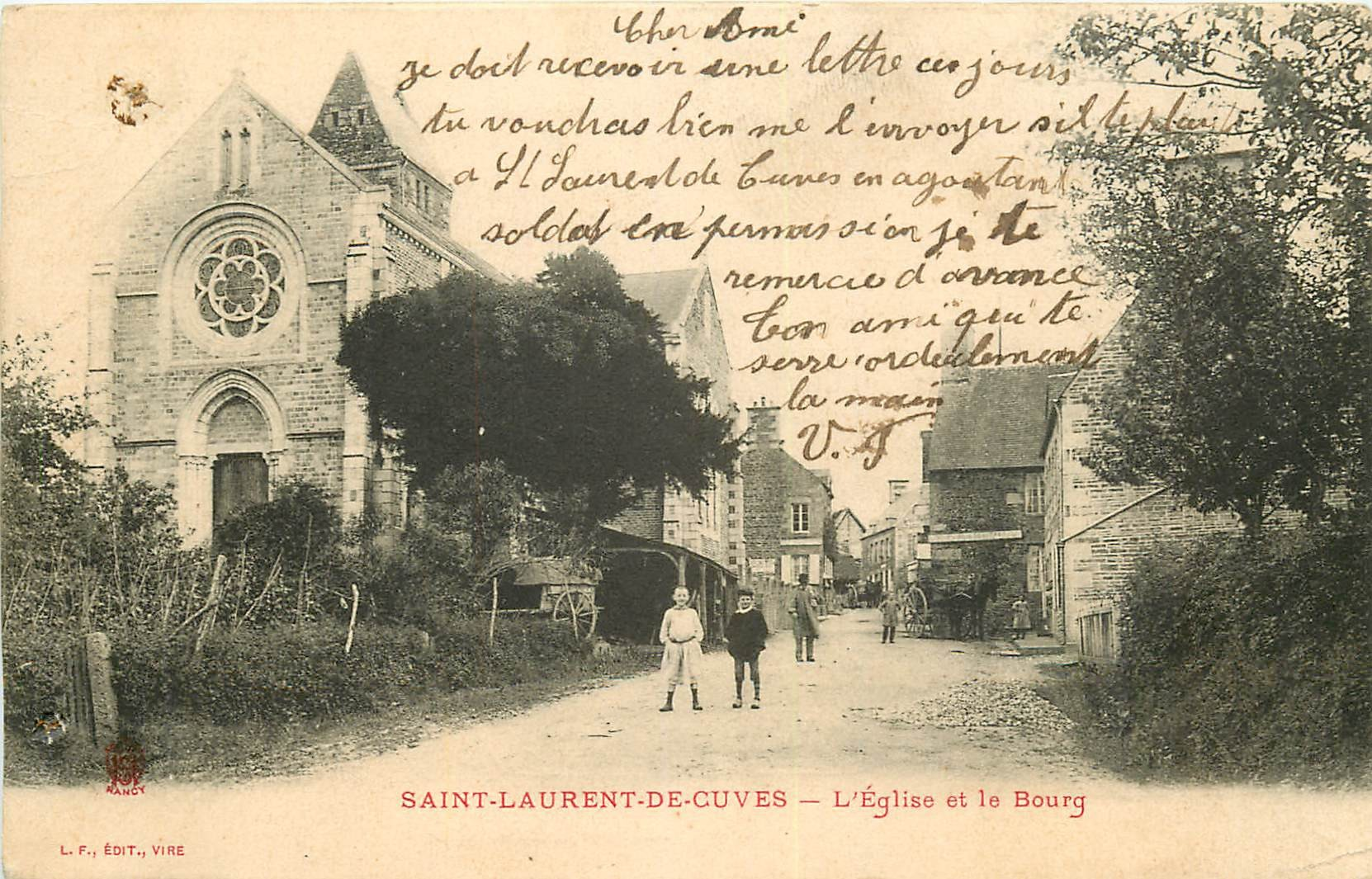 WW 50 SAINT-LAURENT-DE-CUVES. Eglise et le Bourg 1904