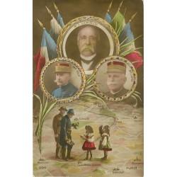 WW MILITAIRES. Clémenceau, Foch et Joffre en Alsace Lorraine 1919