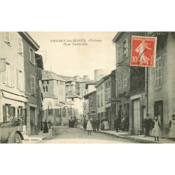 WW 69 CHESSY-LES-MINES. Le Tabac rue Centrale vers 1909