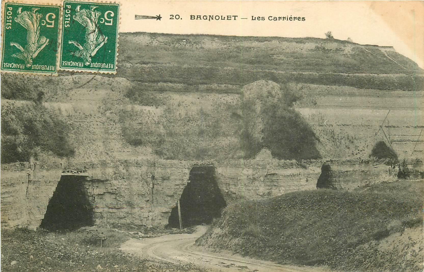 93 BAGNOLET. Les Carrières devenues Parc Jean Moulin