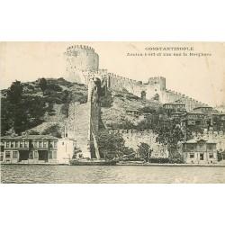 WW CONSTANTINOPLE. Ancien Fort et le Bosphore en Turquie Turkey