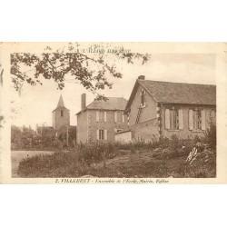 WW 03 VILLEBRET. Ecole, Mairie et Eglise 1935