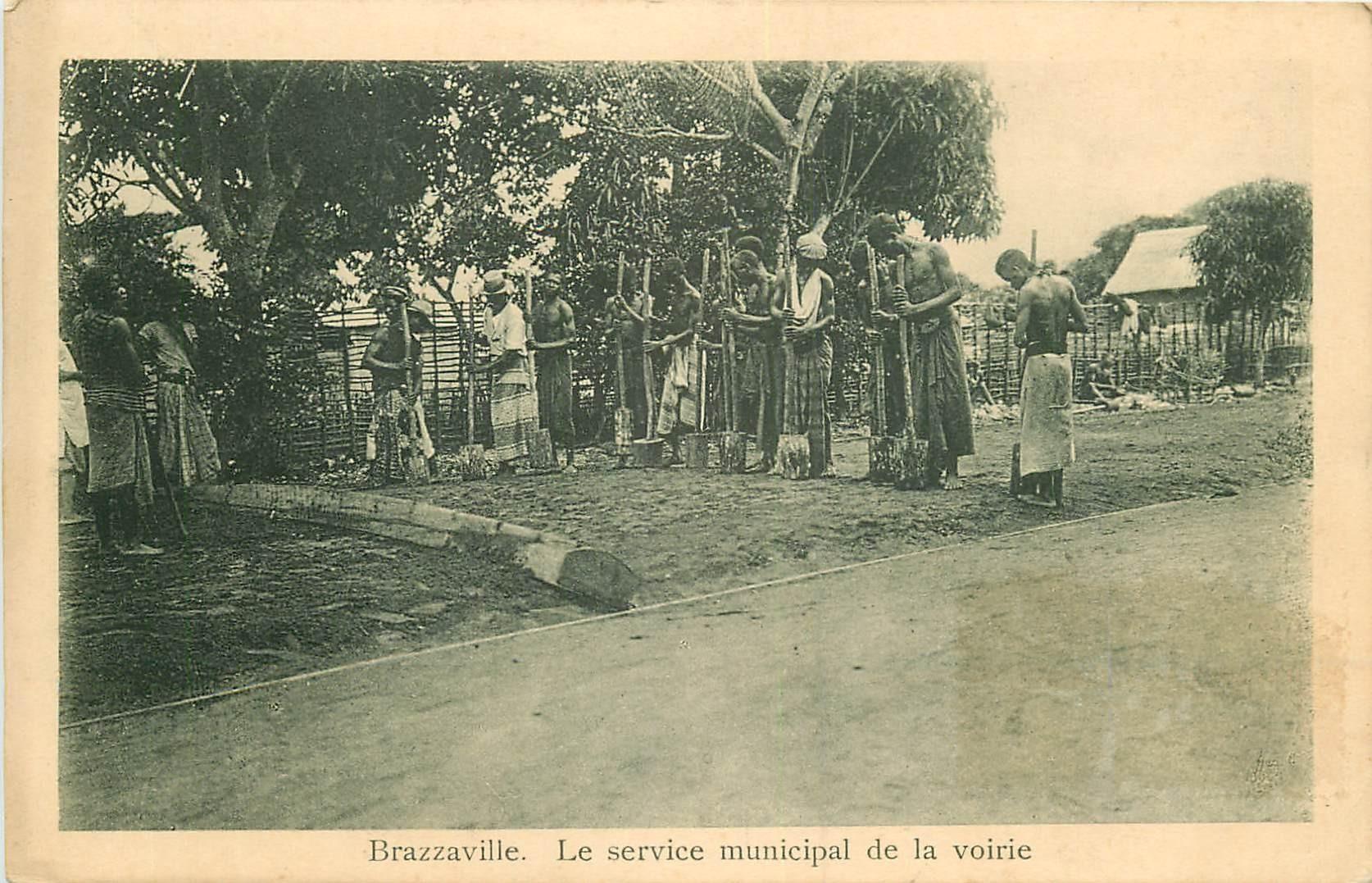 WW BRAZZAVILLE. Le service municipal de la Voirie au Congo 1916
